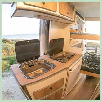 HOW Campers - Instagram - Campervan Interior 1